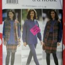 OOP Butterick 3629 Pattern, Misses Vest, Shirt, Wrap Skirt, & Leggings, Sz 12, 14, 16, Uncut