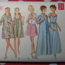 Vintage 60s Butterick 5534 Pattern, Misses' Nightgown, Robe, and Bed Jacket, Size 12
