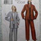 OOP Easy Vogue V7915 Pattern,  Misses  Loose Jacket & Pull-On Pants, Sz 14 16 18, Uncut