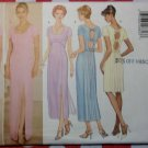 OOP Classics Butterick 5366 Misses Keyhole Gown, Dress Sewing Pattern Size 12 14 16, Uncut