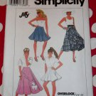 OOP Jiffy Simplicity 9954 Circle Skirt Poodle Applique Sewing Pattern, Sz 10 12 14,  UNCUT