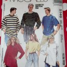 OOP Easy McCalls M5146 Unisex T-Shirt, Pull-over Top Pattern,  Size Med, Uncut