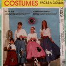 OOP Easy McCalls 7253 Costume Misses Poodle Skirt sewing pattern Sz 4 to 18, UNCUT