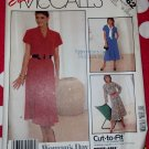 Vintage 80s McCalls 3062 Gored Belted Dress Pattern Sz 8 10 12, Uncut