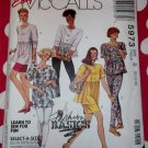 Easy  Misses' Leggings, Tops & Skirts McCalls 5973 Pattern, Size 8 10 12, UNCUT