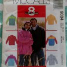 OOP McCall's Pattern 9004 - Unisex Top and Headband, Sz Medium, Uncut