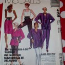 OOP McCalls 4168 Misses Glamour in a Day Wardrobe Pattern, Sz Small, Uncut