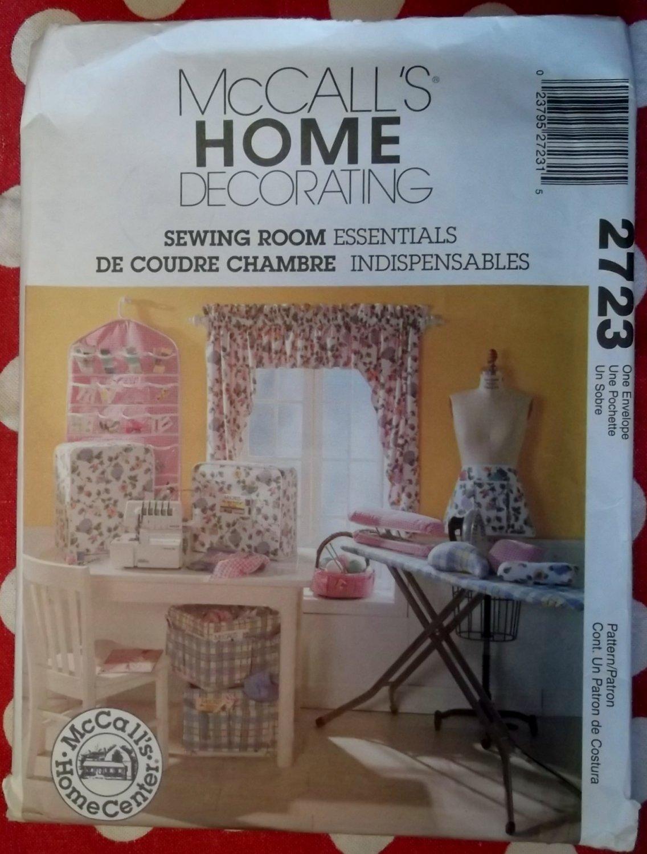 McCalls 2723 Sewing Room, Machine Cover & Organizers  Pattern, Uncut