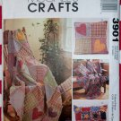 McCalls 3901 Rag Throws and Pillows Pattern, Uncut