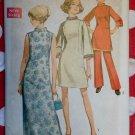 Vintage Dress in 3 Lengths, Pants Simplicity 8513 Pattern, Sz 12 1/2, Uncut
