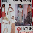 OOP 1 Hour Simplicity 8863 Sewing Pattern, Misses Skirt Pants Shorts, Sz 6 to 16, Uncut