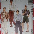 OOP McCalls 5722 Mens Shirt and Pants or Shorts, Size 44, Uncut