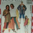 Unisex Jacket Tshirt & Shorts McCalls 6629 Sewing Pattern, Size Small, Uncut