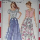 Vintage Simplicity 8361 Peasant tops & tiered skirts, Plus Sz 6 to 24, Uncut