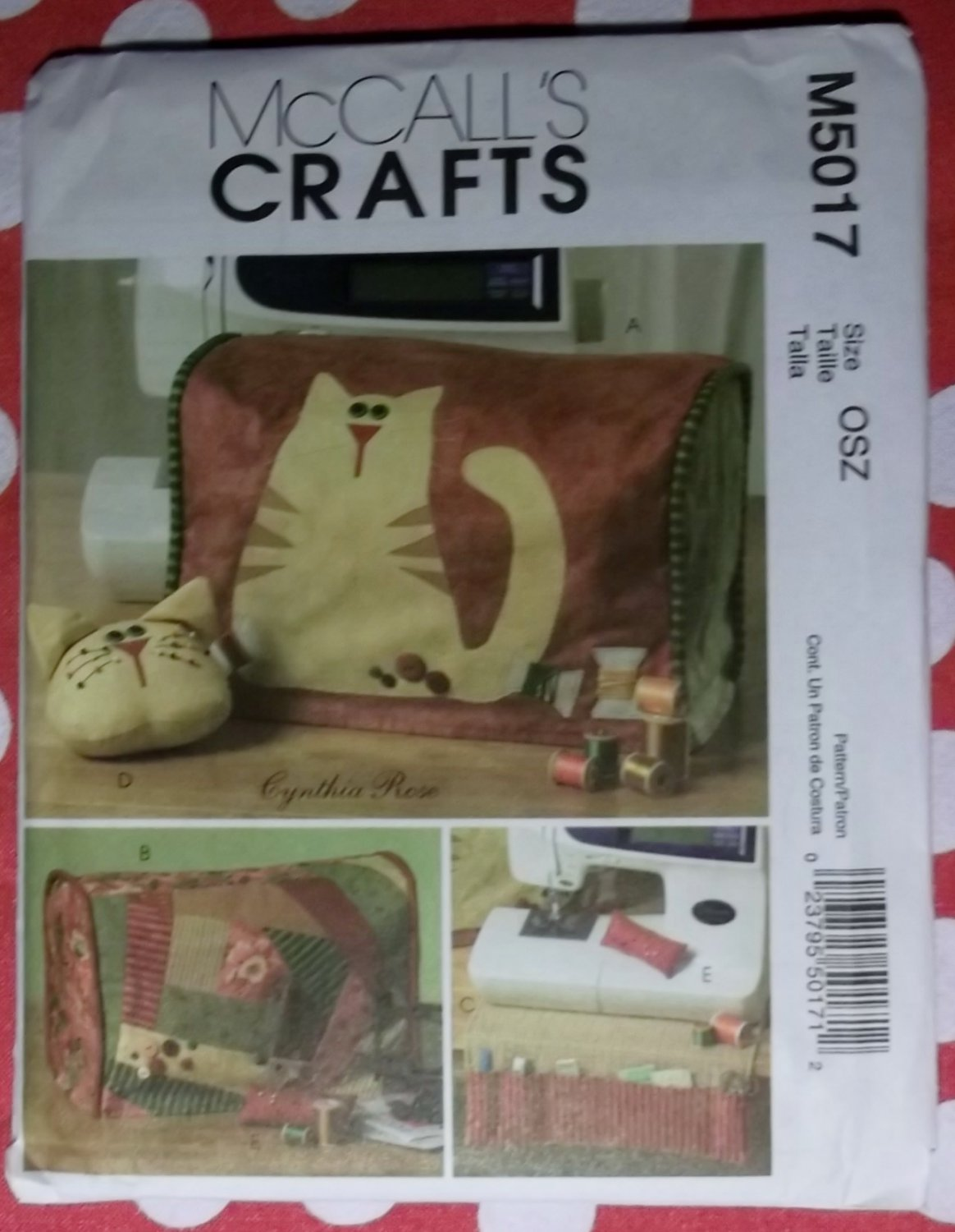 McCall's Patterns M5017 Cynthia Rose Designer Sewing Machine Cover and Accessories, Uncut