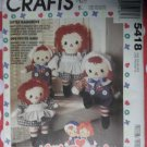 McCalls 5418 Pattern, Little Raggedy Ann & Andy & Clothes, 12 &16 inch, Uncut