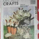 OOP McCall's 2015 Pattern Cheryl haynes Designs Carrot and Cabbage Bunnies, Uncut