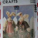OOP McCalls 8663 Crafts Sewing Pattern, Homespun Sweet Basil & Herb Bunnies, Uncut