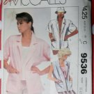 Vintage Easy McCalls 9536 Misses Unlined Jackets Pattern, Size 10 12 14, Uncut