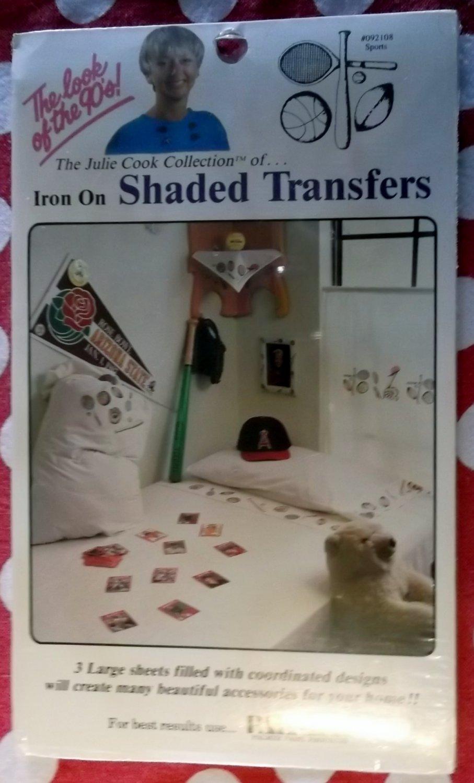 Iron On Shaded Sports Transfers Jullie Cook NIP