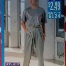 Butterick 6124 Sewing Pattern, Misses Top & Pants, Size 12 14 16, Uncut