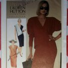 Vintage 1980s Easy Simplicity 6680 Lauren Hutton Design Dress Sewing Pattern, Sz 10, Uncut