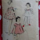 Vintage Advance 8225 Girls Pajamas Shortie Set Pattern, Sz 10-12