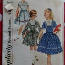 Vintage Simplicity 3570 Girls Dress  Sewing Pattern, Size 8, Uncut