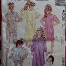 OOP Easy McCalls 4606, Girls Nightshirt, Gown, Top & Bloomers, Pys & Robe Pattern, Sz 12-14, Uncut
