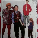 McCall's 6683  Boys Girls Vest Shirt Pull On Pants Tie Sewing Pattern, Size 10 12 14, Uncut