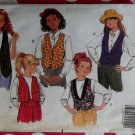 Fast & Easy Butterick 5022 Girls Vest Sewing Pattern, Size 12 14, Uncut