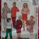 Easy McCalls 5634 Girls activewear dress tunic or top, skirt & pants  Pattern, Sz 7 8 10, Uncut