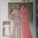 Vintage 1970s Jiffy Simplicity 7128 Pattern Knit Dress or Top and Pants Size 16 Uncut