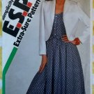 Vintage 80s Simplicity 6290 Fitted Dress, Unlined Jacket & Sash, Sewing Pattern, Sz 10 12 14 Uncut