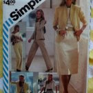 Vintage 80's Simplicity 6364 Misses Skirt, Pants, Blouse & Lined Jacket Sewing Pattern, Sz 14, Uncut