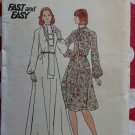 Vtg 70s Butterick 3943 Misses  Flared Long or Short Dress Pattern Sz 16, B 38, Uncut