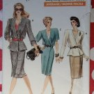 Vogue 7170 Mock Wrap Dress or Top & Skirt Pattern, Sz 8 10 12, Uncut