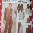 Easy Simplicity 7186 Jacket Top Pants Skirt Pattern, Plus Size 18W to 24W, Uncut