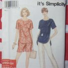 So Easy Misses' Pants or Shorts and Top Simplicity 9032 Pattern, Plus Sz 6 to 24, Uncut,