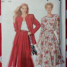 So Easy Misses' Jacket & Skirt Pattern, Plus Size 8 to 20, Simplicity 7368, Uncut