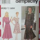 Easy Misses or Petite  Dress Simplicity 9258 Pattern, Size 8 to 14, Uncut