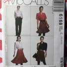 Easy Misses Skirt Pants Shorts McCalls 6168 Pattern, Size 10 12 14, Uncut
