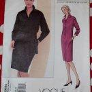 Designer Donna Karan Misses Shirt Dress Vogue 2680 Pattern, Size 6 8 10, Bust 30 1/2 to 32 1/2 Uncut