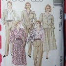 Jacket Skirt Blouse Pants & Scarf McCalls 4416 Pattern, Size 14 Uncut