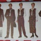 J G hook wardrobe Misses Jacket Vest Pants & Wrap-skirt Butterick 5199 Pattern, Size 14 16 18, Uncut