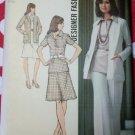 70s Misses Unlined Cardigan, Blouse, Skirt & Pants Simplicity 5530 Pattern, Size 12, Uncut