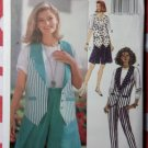 Very Easy Misses Lined Vest, Shorts, Pants Butterick 6708 Sewing Pattern, Size 6 8 10, Uncut