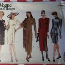 Vogue 1010 Fitted Dress Pattern, Size 12 14 16, Uncut