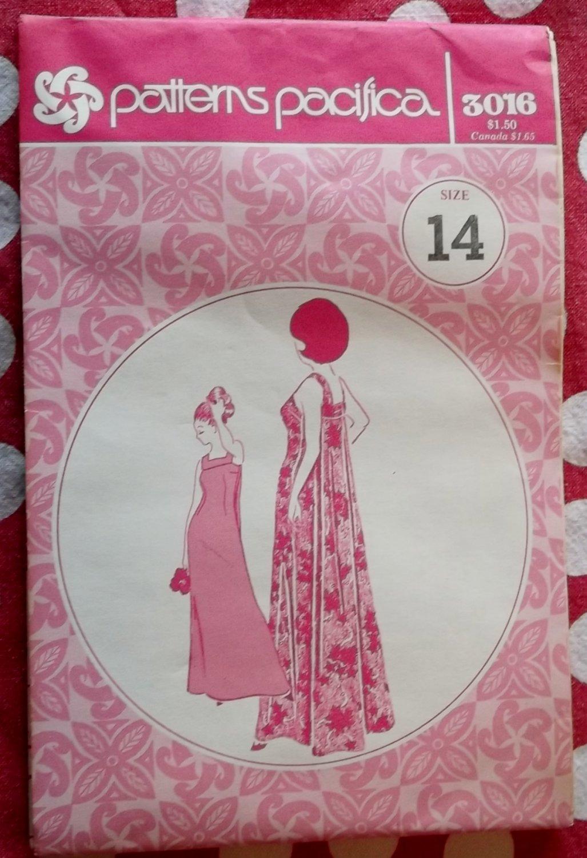 Vintage Dress Pacifica 3016 Pattern, Size 14, Uncut
