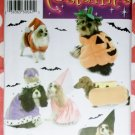 Dog Costumes King, Queen, Hot Dog Plus Simplicity 3952 Pattern, Sz Sm, Med, Uncut